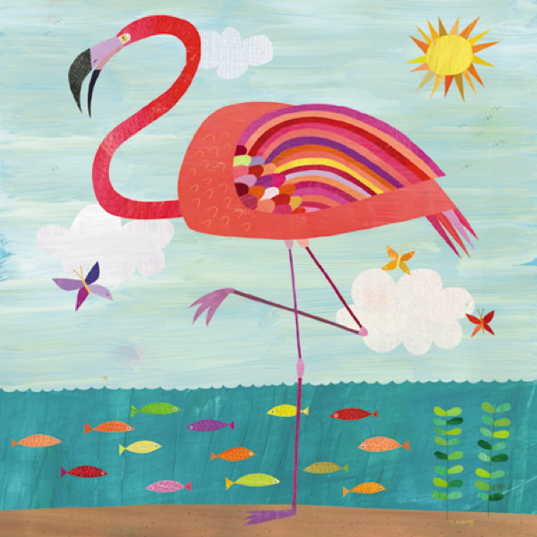 CARD - VERY PINK FLAMINGO