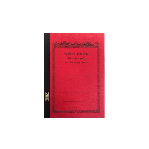 CD NOTEBOOK-B7 LINED RED